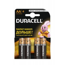 Элемент пит. AA  Alkaline LR Duracell MN 1500/LR6 Basic ВР4(бл.4шт.)
